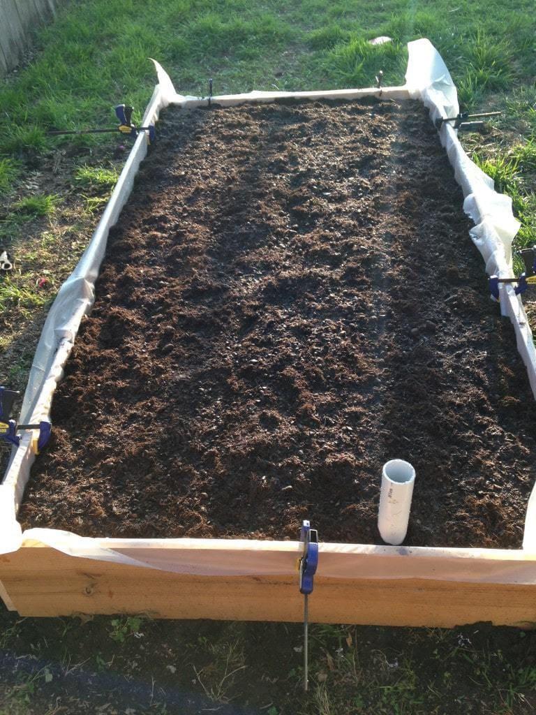 Wicking Garden Bed Full of Soil