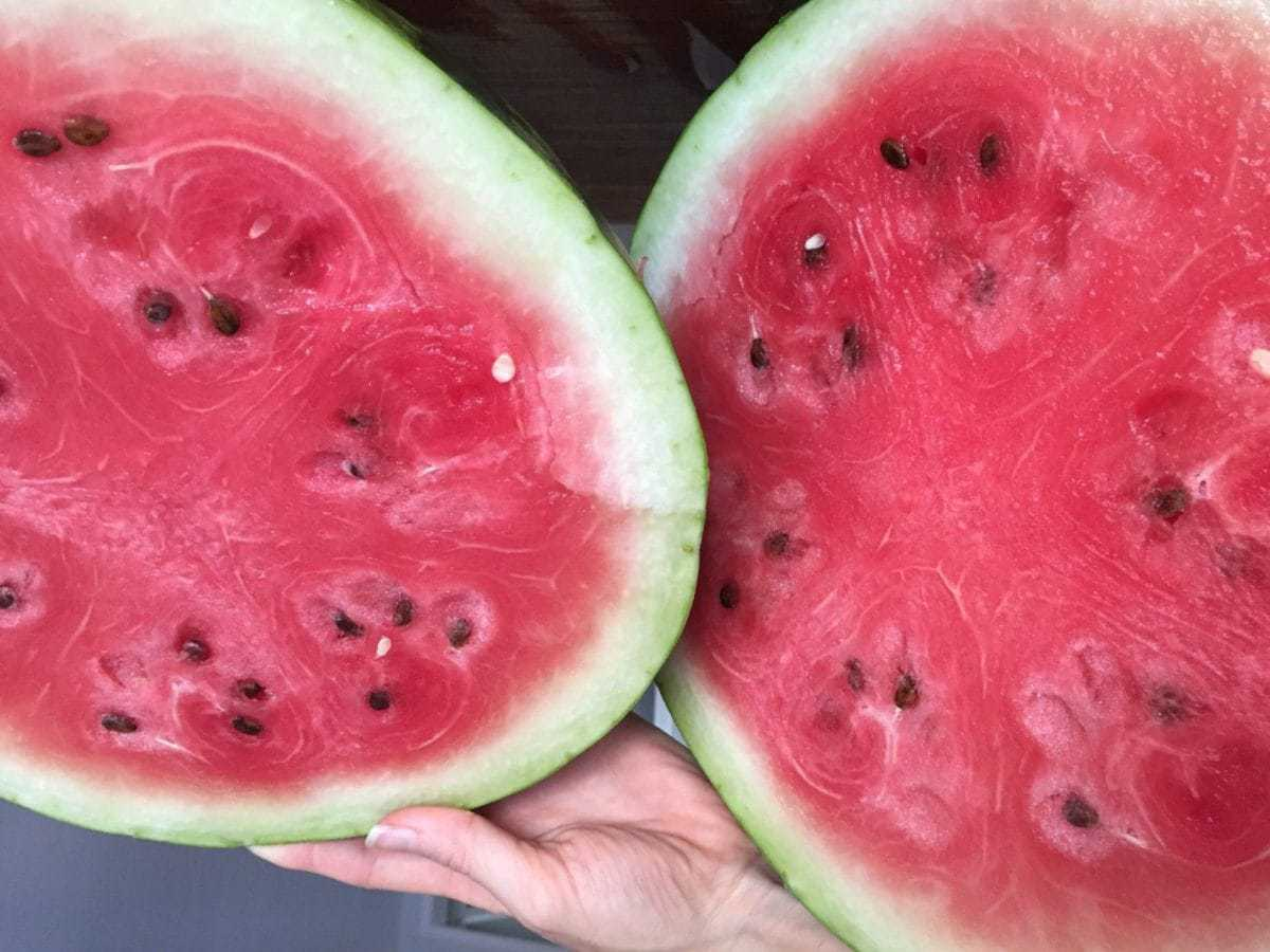 Ripe Watermelon Cut Open