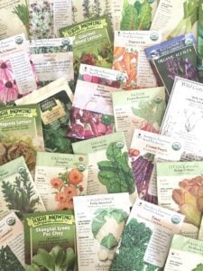 various edible seed packets