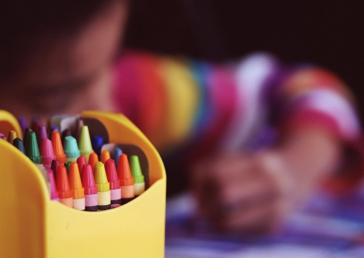 Child Drawing with Colors