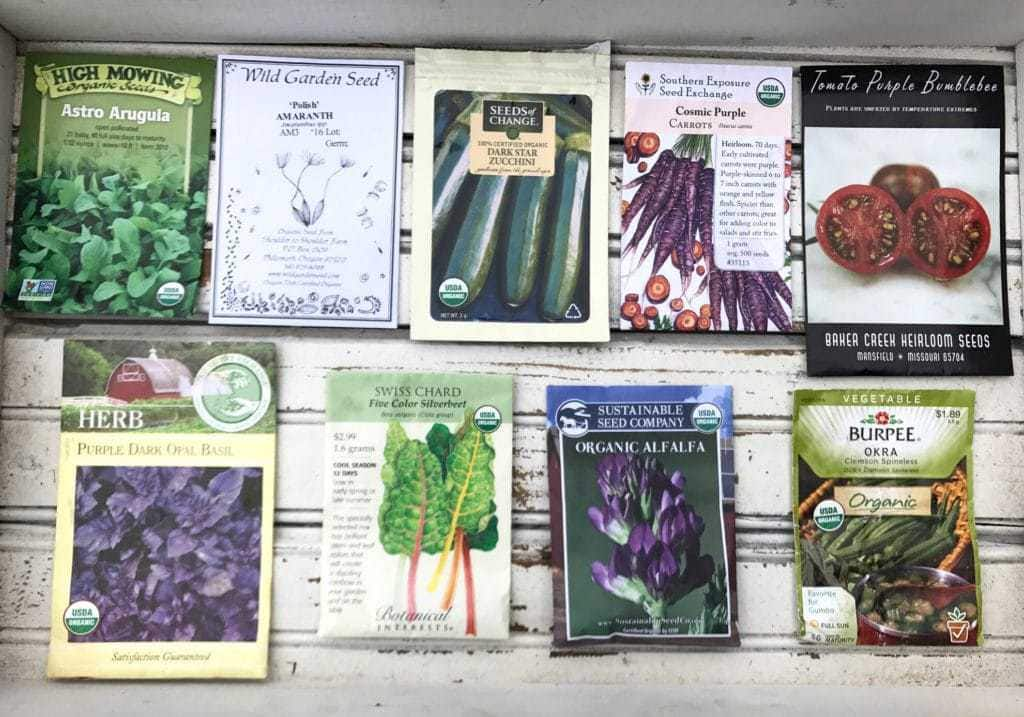 Front of Seed Packets